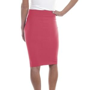 Forever Young Skirts - Professional Pencil Stretch Skirt 1114 Coral